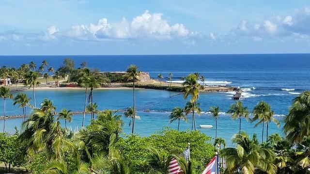 プエルトリコの海
