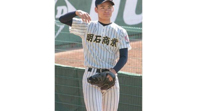 【中森俊介・明石商業】最速145kmの新2年生右腕。